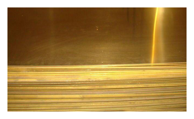 Лист латунный 0.6х600х1500мм ЛС59-1